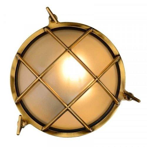 Lucide DUDLEY - Wall lamp Outdoor - Ø 25 cm - 1xE27 - IP65 - Matt Gold / Brass - 11890/25/02