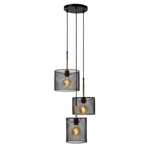 Lucide BASKETT - Pendant lamp - 3xE27 - Black - 45459/03/30