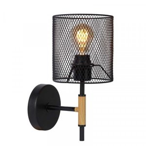 Lucide BASKETT - Wall lamp - 1xE27 - Black - 45259/01/30