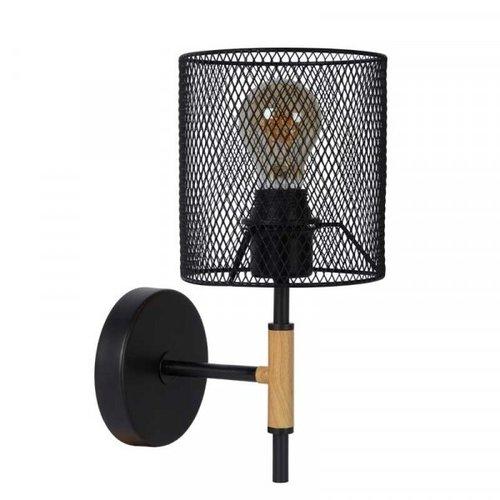 Lucide BASKETT - Wall lamp - 1xE27 - Black - 45259/01/30
