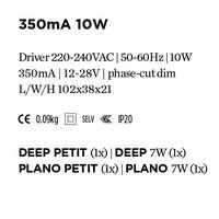 LED Power Supply 350mA 10W Phase cut-off dim