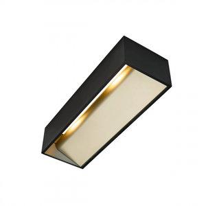 LED wall lamp LOGS in L 17W black / gold DIM