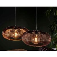 Hanging lamp 2x Ø43 disk wire copper twist