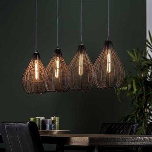 LioLights Hanglamp 4L druppel draadframe
