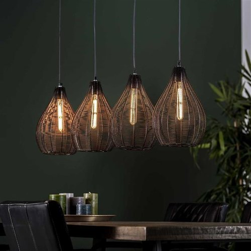 LioLights Hanging lamp 4L drop wire frame
