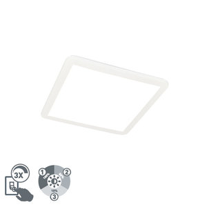 QAZQA STEVE Ceiling lamp 40x40cm incl. 24W LED light source