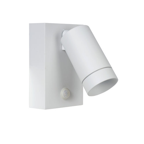 Lucide TAYLOR - Wall spotlight Outdoor - 1xGU10 - IP44 - White - 09831/01/31