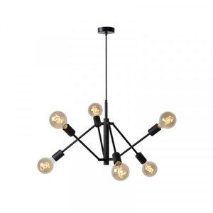 Lucide LESTER - Ceiling light - 6xE27 - Black - 21424/06/30