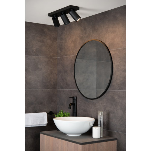Lucide TAYLOR - Ceiling spotlight Bathroom - LED Dim to warm - GU10 - 3x5W 2200K/3000K - IP44 - 09930/15/30