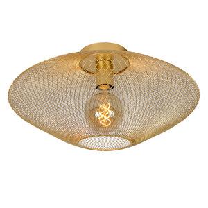 Lucide MESH - Flush ceiling light - Ø 45 cm - E27 - Matt Gold / Brass - 21123/45/02