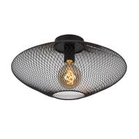 MESH - Flush ceiling light - Ø 45 cm - E27 - Black - 21123/45/30