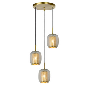 Lucide AGATHA - Pendant light - Ø 35 cm - 3xE27 - Matt Gold / Brass - 03433/03/02