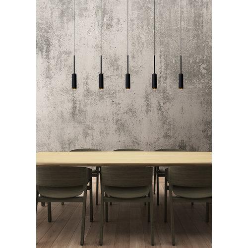 Lucide TUBULE - Hanging lamp - LED - 5x7W 2700K - Black - 24401/35/30