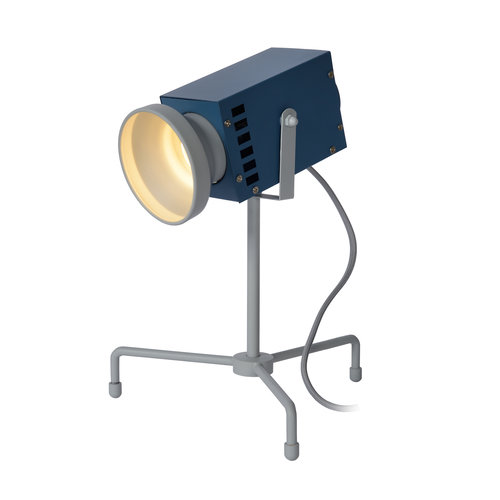 Lucide BEAMER - Tafellamp Kinderkamer - LED - 1x3W 3000K - Blauw - 05534/03/35