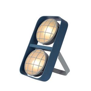 Lucide RENGER - Tafellamp Kinderkamer - 2xG9 - Blauw - 05533/02/35