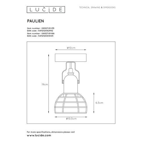Lucide PAULIEN - Wandspot - 1xE27