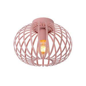 Lucide MERLINA - Flush ceiling light Children - Ø 30 cm - 1xE27 - Pink - 78193/30/66
