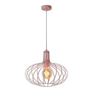Lucide MERLINA - Pendant lamp - Ø 38 cm - 1xE27 - Pink - 78393/38/66