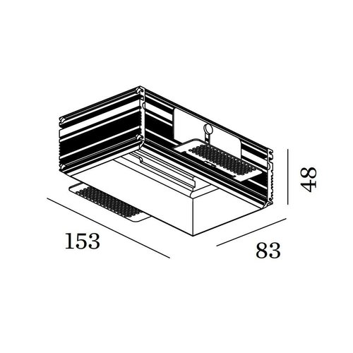 Wever & Ducré Strange / Sneak 2.0 Plaster Kit Alu Trimless Aluminum