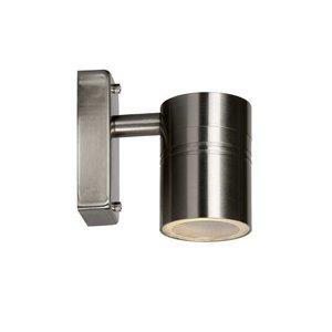 Lucide ARNE-LED - Wandspot Buiten - Ø 6,3 cm - LED - GU10 - 1x5W 2700K - IP44 - Mat chroom - 14867/05/12