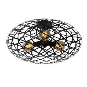Lucide WOLFRAM - Ceiling lamp - Ø 65 cm - 3xE27 - Black