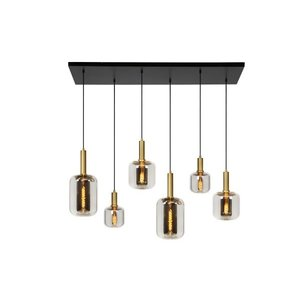 Lucide JOANET - Hanging lamp - 6xE27 - Fumé - 45494/06/65
