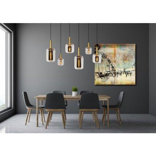 JOANET - Hanging lamp - 6xE27 - Fumé - 45494/06/65