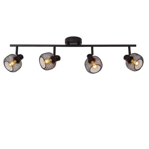 Lucide MAREN - Ceiling spotlight - 4xE14 - Black - 77978/04/30