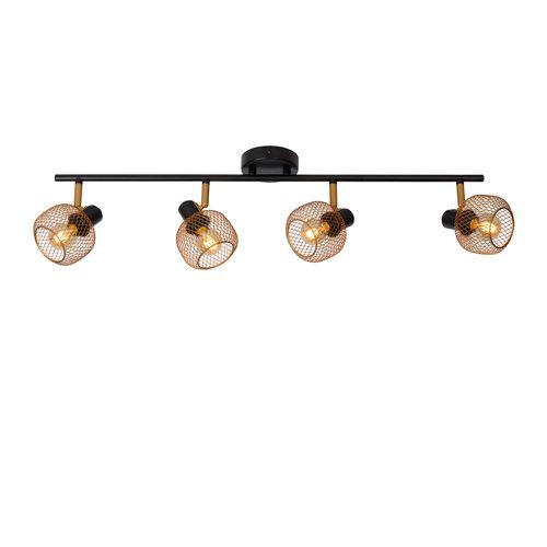 Lucide MAREN - Ceiling spotlight - 4xE14 - Matt Gold / Brass - 77978/04/02