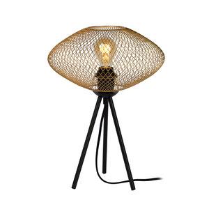 Lucide MESH - Table lamp - Ø 30 cm - 1xE27 - Matt Gold / Brass - 21523/01/02