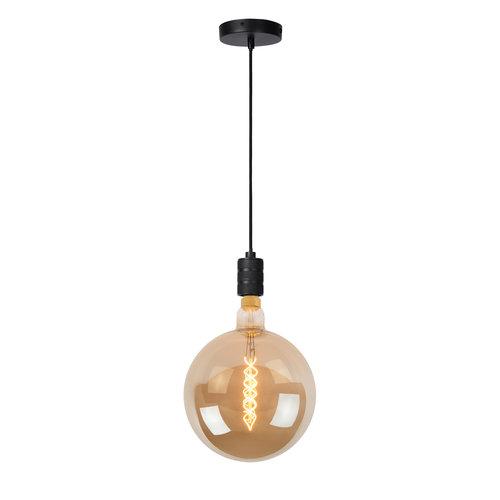 JOVA - Hanglamp - Ø 4,6 cm - 1xE27 - Zwart - 08426/01/30