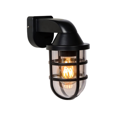 Lucide LEWIS - Wall light Outdoor - 1xE27 - IP44 - Black - 29899/01/30