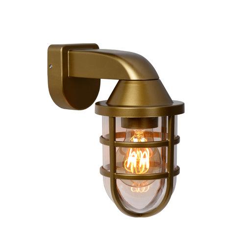 Lucide LEWIS - Wall light Outdoor - 1xE27 - IP44 - Matt Gold / Brass - 29899/01/02