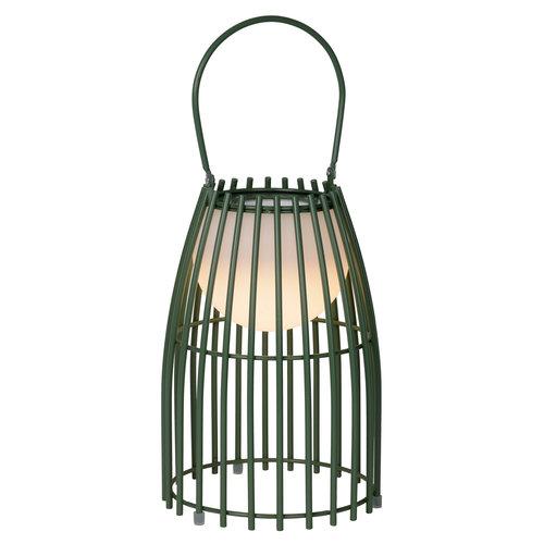 Lucide FJARA - Tafellamp Buiten - Ø 17,5 cm - LED Dimb. - 1x0,3W 3200K - IP44 - Groen - 06801/01/33