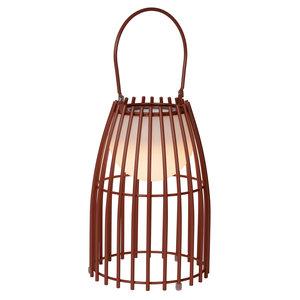 Lucide FJARA - Table lamp Outdoor - Ø 17,5 cm - LED Dim. - 1x0,3W 3200K - IP44 - Rust Brown - 06801/01/97
