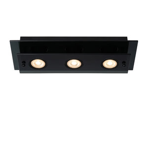 Lucide OKNO - Ceiling light - 3xGU10 - Black - 79181/03/30