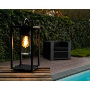 Lucide GLIMMER - Tafellamp Buiten - 1xE27 - IP44 - Zwart - 14882/01/30