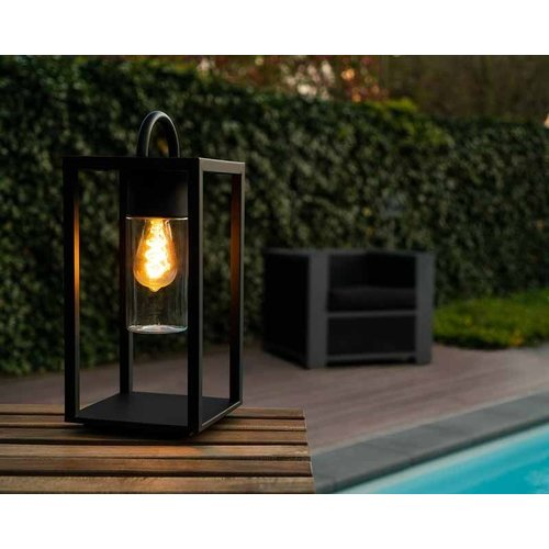 Lucide GLIMMER - Table lamp Outdoor - 1xE27 - IP44 - Black - 14882/01/30