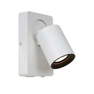 Lucide NIGEL - Wandspot - LED - GU10 - 1x5W 3000K - Met USB oplaadpunt - Wit - 09929/06/31