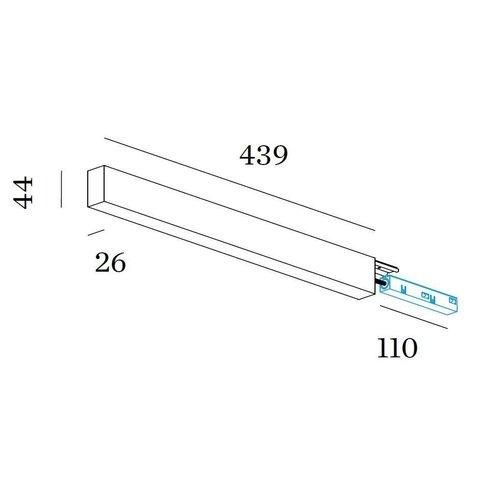 Wever & Ducré Strex Profile converter box + Power supply 150W 48Vdc