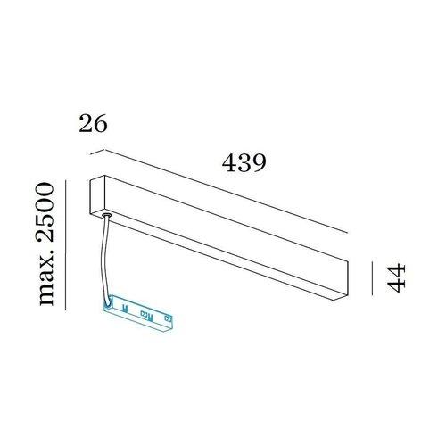Wever & Ducré Strex Rozet + LED voeding 100W 48Vdc, DALI dim