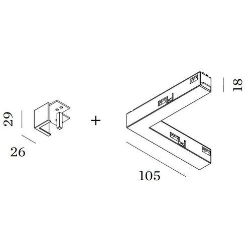 Wever & Ducré Strex Electrical / Mechanical L-joint (left, right)