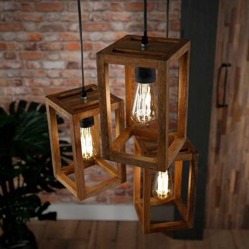 LioLights Liolights 3x houten frame getrapt