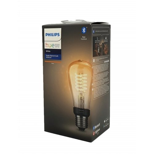 Philips HUE White filament lamp ST64 E27 Edison with visible filament
