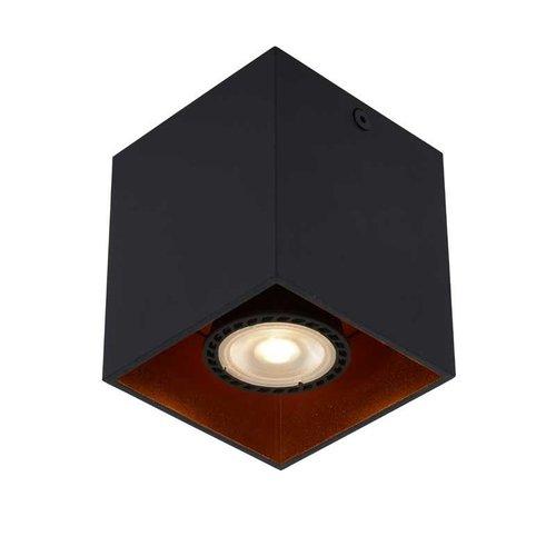 Lucide BIDO - Ceiling spotlight - 1xGU10 - Black - 22966/01/30