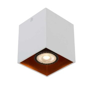 Lucide BIDO - Plafondspot - 1xGU10 - Wit - 22966/01/31
