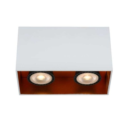 Lucide BIDO - Ceiling spotlight - 2xGU10 - White - 22966/02/31