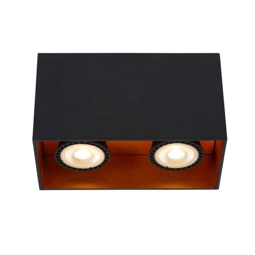 Lucide BIDO - Ceiling spotlight - 2xGU10 - Black - 22966/02/30