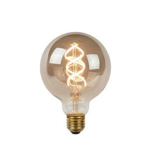 Lucide STEP DIM BULB - Filament lamp - Ø 9.5 cm - LED Dim. - E27 - 1x5W 2200K - 3 StepDim - Fumé - 49062/05/65