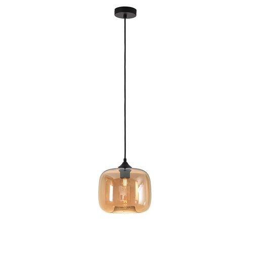 LioLights Hanglamp PRESTON amber glas